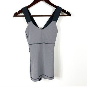 Lululemon Grey Stripe Tank Top
